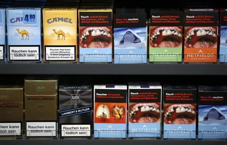 Bilder på tobakkspakkene kan lære folk at røyking forårsaker blærekreft
